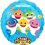 """Sing-A-Tune """"Baby Shark"""" Foil Balloon, P75, packed, 71cm"""