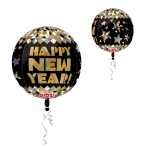 Orbz New Year Gold Pattern Foil Balloon G20 Packaged
