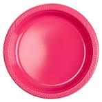 10 Plates Plastic Magenta 22.8cm