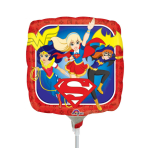"""92 """"DC Super Hero Girls"""" Foil Balloon Square, A20, airfilled, 23 cm"""