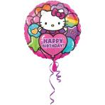 Standard Hello Kitty Rainbow Birthday Foil Balloon S60 Packaged 43 cm