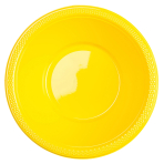 20 Bowls Sunshine Yellow Plastic 355 ml