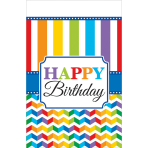 Tablecover Bright Birthday Plastic 137 x 243 cm