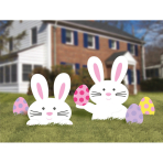 5 Lawn Signs Easter Bunnies & Eggs Plastic 50.8 cm / 37.1 cm / 15.8 cm