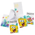 6 Invitations & Envelopes SpongeBob