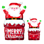 """SuperShape """"Santa in Chimney"""" Foil Balloon P30 packed 50 x 76cm"""