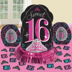Table Decorating Kit Sweet 16 5 Parts