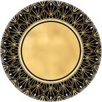 8 Plates Glitz & Glam Paper Round 17.7 cm