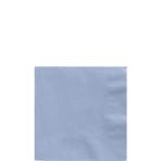 50 Beverage Napkins Pastel Blue 25x25cm