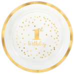 Serving Tray 1st Birthday Round Plastic 40cm