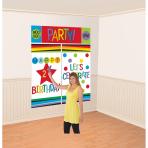 Scene Setter Set Birthday Personalizable Plastic 5 Pieces 25.4 - 149.8 cm