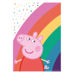 8 Lootbags Peppa Pig Paper 23,4 x 16,2 cm