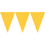 Pennant Banner Sunshine Yellow Paper 457 x 17.7 cm