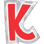 48 Stickers Letter K