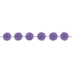 2 Fluffy Garlands Colourful Wedding, Lilac, 365 x 13,9 cm