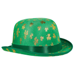 Hat St. Patrick's Day Golden Shamrock Fabric One Size