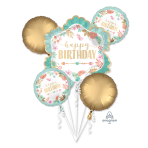 Bouquet BOHO Birthday Girl Foil Balloon P75 packaged