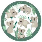 8 Plates Koala Paper 22.8 cm