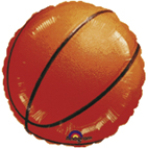 Standard Championship Basketball Foil Balloon S40 Packaged 43 cm