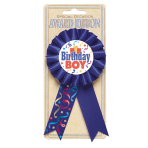 Award Ribbon Birthday Boy Fabric / Paper 8.1 x 15.2cm