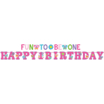 2 Banners Sweet Birthday Girl 320 x 25/183 x 10 cm