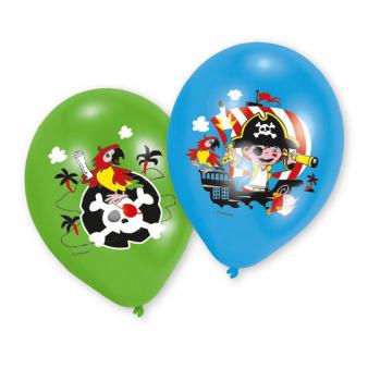 "6 Latex Balloons Pirate 27.5 cm / 11"""