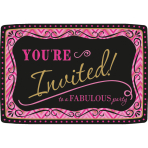 20 Invitations & Envelopes Born To Be Fabulous