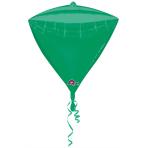 Diamondz Green Foil Balloon G20 Bulk 38 x 43 cm