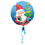 Standard Santa with Tree Foil Balloon S40 Packaged