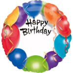 Standard Happy Birthday personalised Foil Balloon S40 Packaged