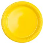 20 Plates Sunshine Yellow Plastic Round 17.7 cm