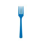 10 Forks Bright Royal Blue Plastic 15.7 cm