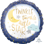 Standard Twinkle Little Star Foil Balloon S40 packaged