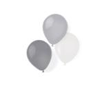 """8 Latex Balloons Silver Dream 25,4 cm/10"""""""