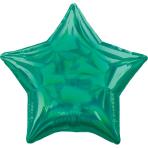 Standard Holographic Iridescent Green Star Foil Balloon S55 Bulk