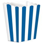 5 Treat Boxes Stripes Bright Royal Blue 9.5 x 13.5 cm