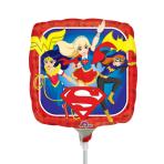 """9"""" """"DC Super Hero Girls"""" Foilballoon Square, A20, bulk, 23 cm"""