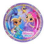 8 Plates Shimmer & Shine Paper Round 17.7 cm