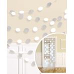 6 String Decorations Glitter White 213 cm