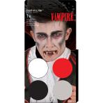 Aqua Kit Dracula/Vampire (4 x Face Paint 3.5 g / 1 Brush)