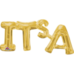 "SuperShape Phrase ""It's A"" Gold Foil Balloon P35 Packaged 50 x 22 cm"