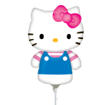 Mini Shape Hello Kitty Summer Fun Foil Balloon A30 Air Filled
