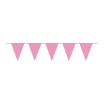 Pennant Banner Plastic 10m Bright Pink