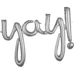 Script Phrase `Yay!` Silver