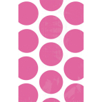 10 Paper Treat Bags Polka Dot Bright Pink 11.3 x 17.7 cm