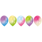 5 Latex Balloons LED White with Multi-Coloured LED Lights 27.5 cm / 11""