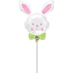 "Mini Shape ""Happy Hop Bunny"" Foil Balloon, A30, bulk"