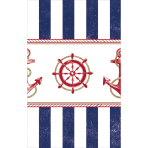 Tablecover Anchors Aweigh plastic 137x259 cm