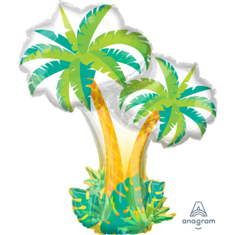 "SuperShape ""Tropical Palm Trees"" Foil Balloon, P35, packed, 68 x 86cm"
