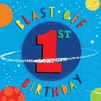 16 Napkins Blast Off Birthday 1st Birthday 33 x 33 cm